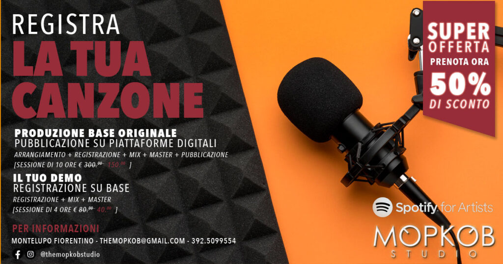 The best recording studio in Florence.